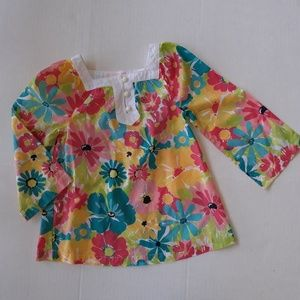 Janie and Jack Floral Tunic Top  Size 2T